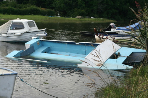 John Halkes boat after some unwanted modification.